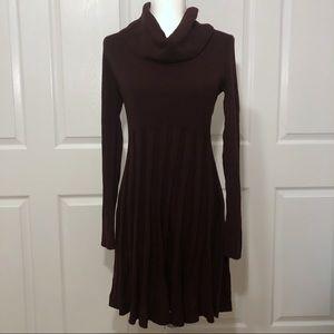 Calvin Klein Cowl Neck Aubergine Sweater Dress